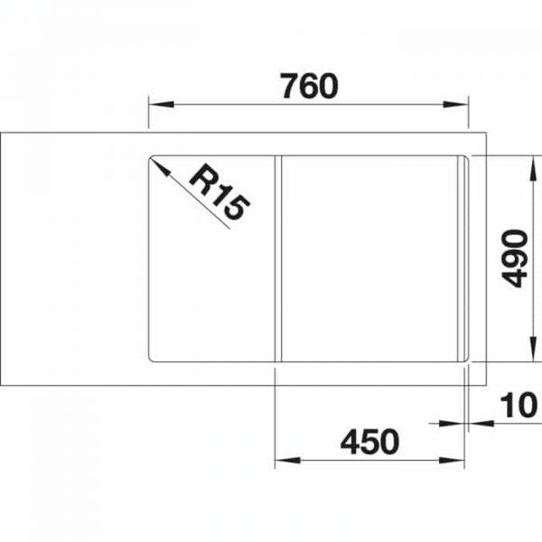 BLANCO AXIA III 45 S (523176)