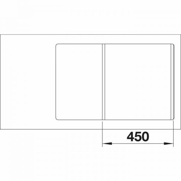 BLANCO AXIA III 45S-F (525843)