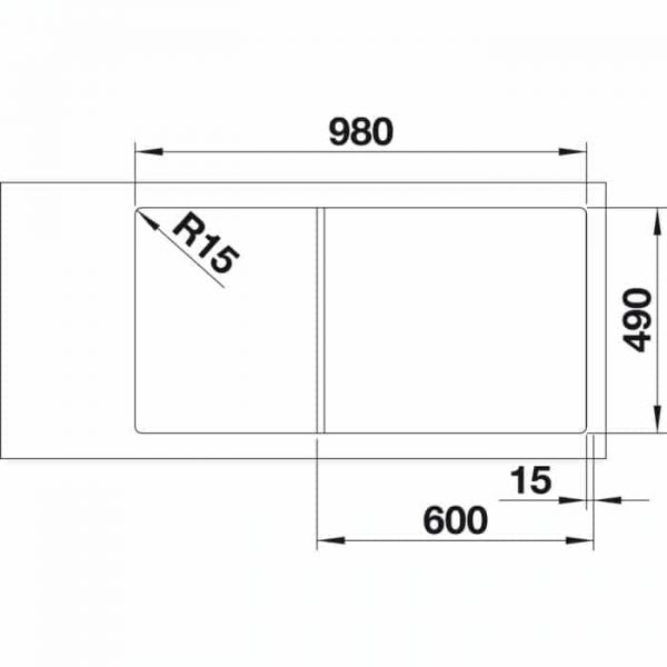 Blanco Axia III XL 6 S (523514)