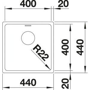 Blanco Andano 400-U (522959)