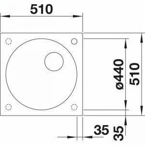 Blanco Artagon 6 IF/A Steel Frame (521767)