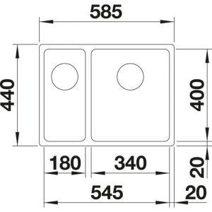 Blanco A-Style 340/180-U (523013)