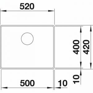 Blanco Attika 60-T Tropftasse (521656)