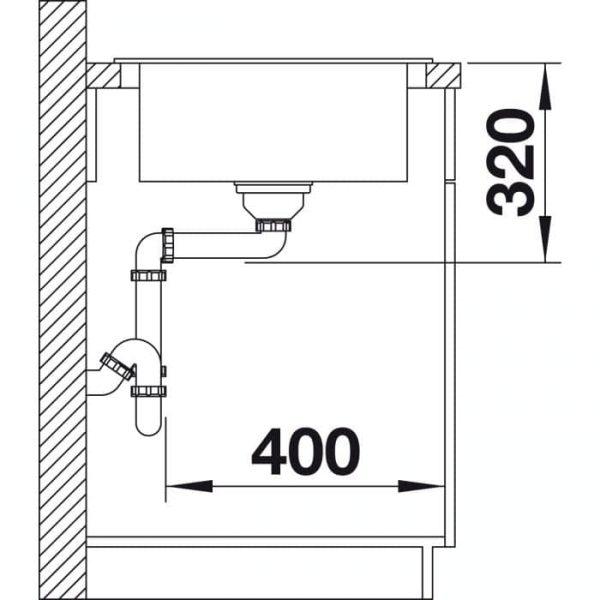 BLANCO CLASSIC NEO 45 S (523997)