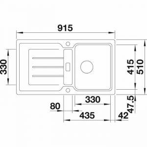 BLANCO CLASSIC NEO 5 S (525862)