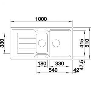 BLANCO CLASSIC NEO 6 S (524122)