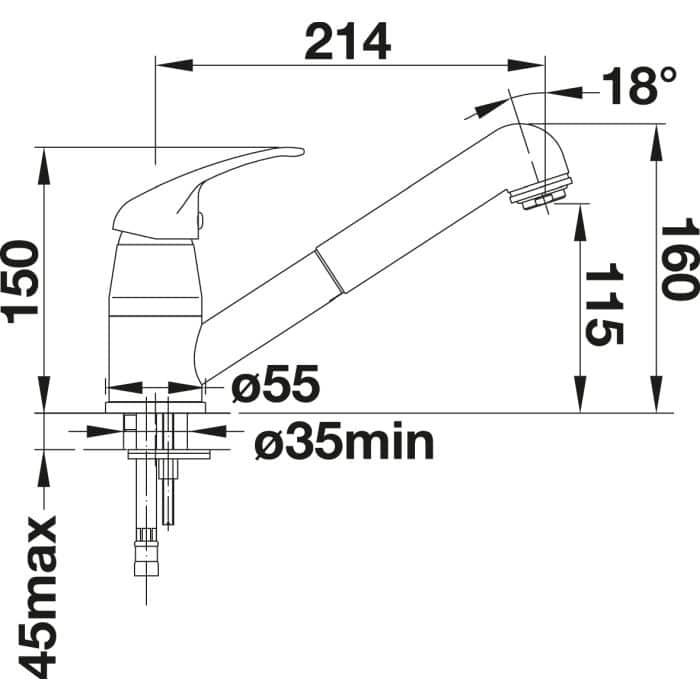 BLANCO DARAS-S Armatur chrom Hochdruck 517731