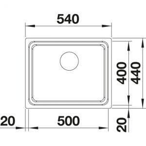 Blanco Etagon 500-U (521841)