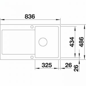 Blanco Idento 45 S-F (522263)