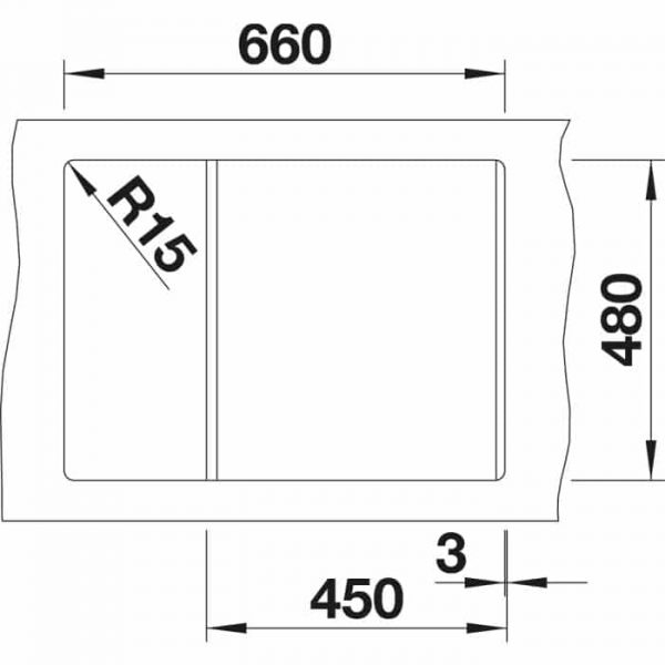 Blanco Metra 45 S Compact (525912)