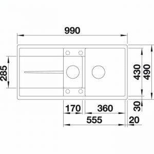Blanco Metra 6 S-F (519118)