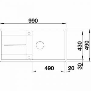 Blanco Metra XL 6 S-F (525933)