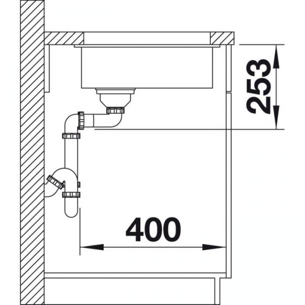 Blanco Subline 160-U (523405)