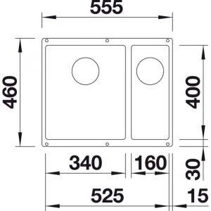 Blanco Subline 340/160-U (525985)