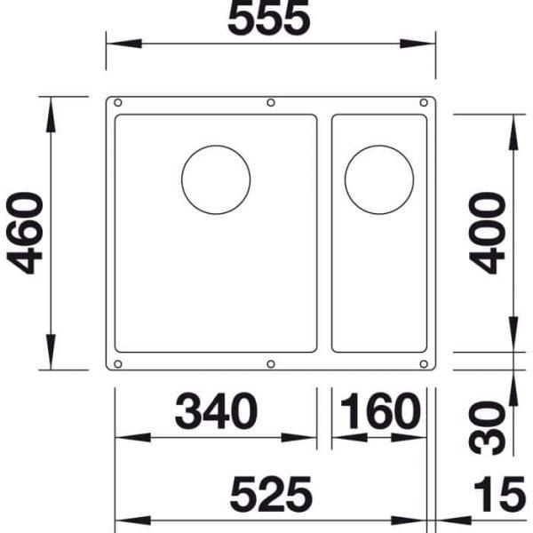 Blanco Subline 340/160-U (523556)