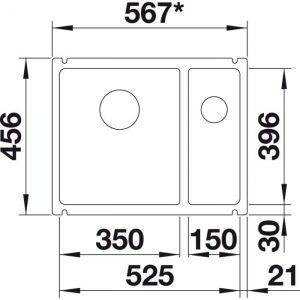 Blanco Subline 350/150-U (523747)