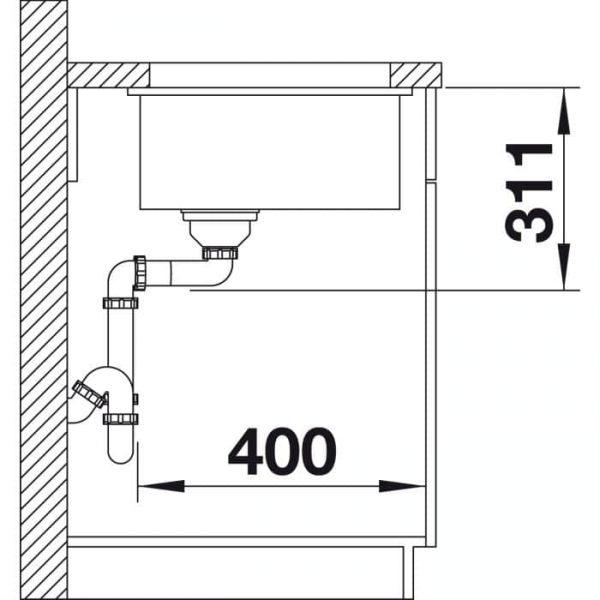 Blanco Subline 375-U (523726)