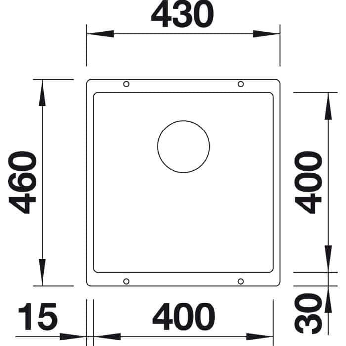 blanco subline 400 u 523423 qshop miller kg. Black Bedroom Furniture Sets. Home Design Ideas