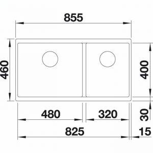 Blanco Subline 480/320-U (523590)