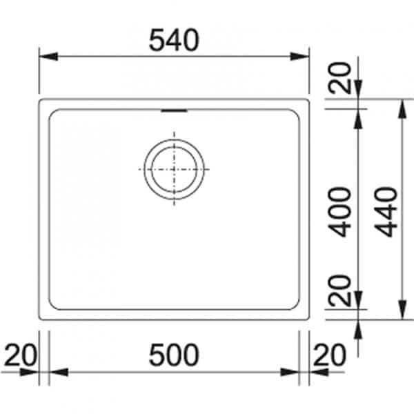 Kubus kbg110-50 Maßskizze