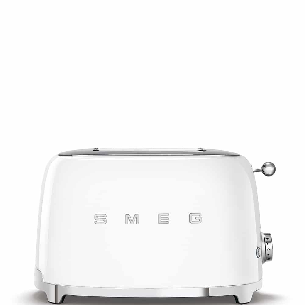 SMEG TSF02BLEU 4-Scheiben Toaster 50`s Retro Style Edelstahl Schwarz lackiert