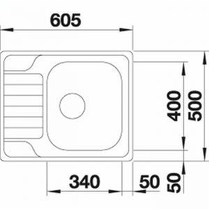 Blanco DINAS 45S Mini (525122)