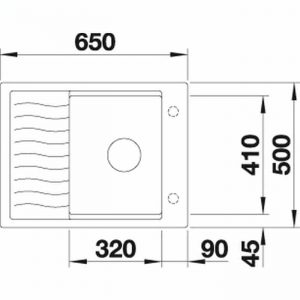 Blanco Elon 45 S (524825)