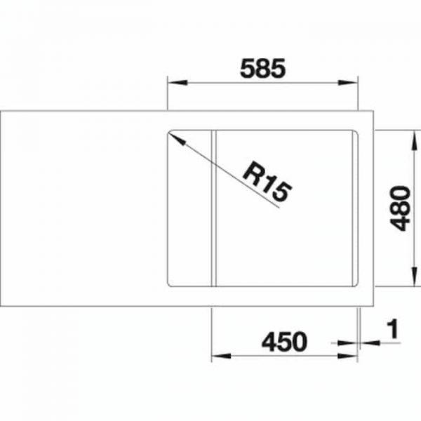 Blanco LEMIS 45S-IF Mini (525114)