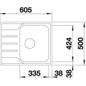 Blanco LEMIS 45S-IF Mini (525115)