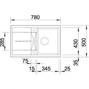 Blanco Metra 45 S (525312)