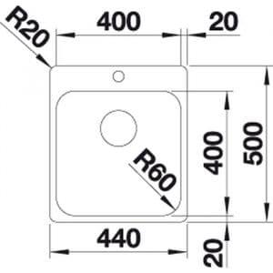 Blanco Supra 400-IF/A (526352)