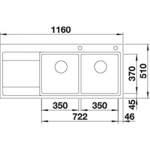 Blanco DIVON II 8 S-IF (521664)