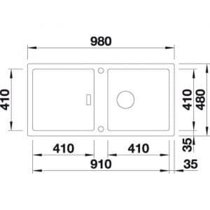 Blanco Adon XL 6 S (525837)